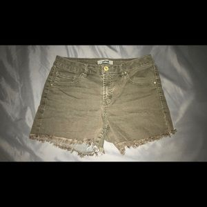 Charlotte Russe Olive Green Shorts